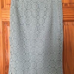 """Boden Skirts - Boden Alexa """"Light Blue"""" Lace Pencil Skirt"""